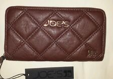Joe's Jeans Zip Around Diamond Quilted Wallet Brown NWT$57.70
