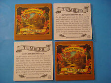 4 Beer Bar Coasters ~ SIERRA NEVADA Tumbler Autumn Brown Ale ~ Chico, CALIFORNIA