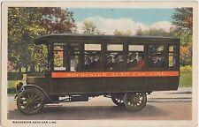 Minnesota Minn Postcard Mn 1921 ROCHESTER Auto Car Line BUS Passengers
