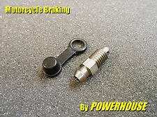 Motorcycle brake caliper 8mm stainless bleed screw nipple Suzuki Honda Yamaha