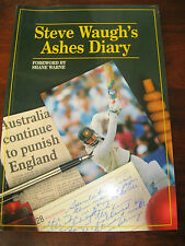 STEVE WAUGH'S ASHES DIARY SIGNED AUTOGRAPH Cricket Cricketer International