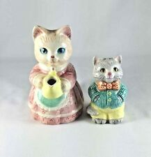 Avon Country Purrfection 1991 Cat Creamer & 1992 Kitten Kitty Salt Shaker