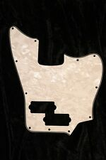 Squier Short Scale VM Jaguar Bass Pickguard. 4 Ply White Pearl