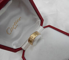 CARTIER LOVE RING  18kT SIZE 3.5 NO. 962034 PRE OWNED GOOD COND. ORIG. BOX