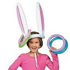 Inflatable Easter Bunny Kids Birthday Party Pool Beach Favor Ring Toss Game