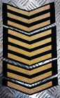 Genuine British Naval MoD Royal Navy RN Gold Chevrons Patch badge - Brand New