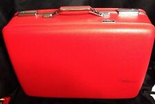 """Vintage Retro American Tourister Hardshell Candy Red Travel 21"""" Suitcase"""