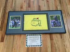 Signed Jack Nicklaus Masters Flag from 2003 Framed Auto Autographed