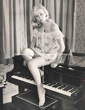 BRITISH ACTRESS CAROL ANN AYLETT UPSKIRT LEGGY IN SHORT NIGHTIE BAREFOOT PHOTO