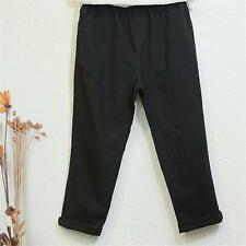 New Womens Cotton Linen Fashion Trousers Loose Harem Casual Solid Long Pants