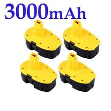 4X 3.0AH 18V 18 VOLT BATTERY FOR DEWALT DE9095 DC9096 DW9095