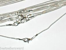 """1pc.Necklace silver plated Necklaces w/clasp Findings 16"""" inch *"""