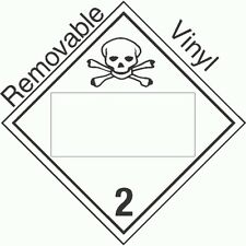 Blank Window Toxic Gas Class 2.3 Removable Vinyl Placard(Pack of 50)