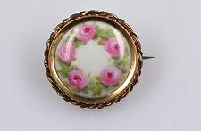 Hübsche Meissen Porzellan Schmuck Brosche mit Blumenmotiv
