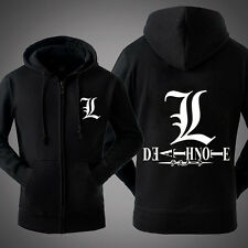 Anime Death Note Thicken Zopper Sweatshirt Unisex Hoodie Jacket Coat Black Hot