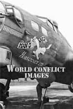 USAAF WW2 B-17 Bomber Man 'O War II Horsepower LTD #5 8x10 Nose Art Photo WWII