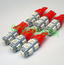 6 x T10 194,168,2825, 9 x 5050 SMD LED Red Super Bright Car Lights Lamp Bulb