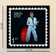 Retro Pop Art Bowie 'David Live' 8 INCH Picture Tile Gift Idea FREE UK P&P