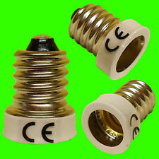 E14 SES To E12 CES WHITE Light Bulb Adaptor Converter Lamp Holder LED UK SELLER.