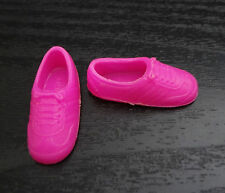 Barbie Skipper Doll Shoes Flat Foot Sneakers Hot Pink Athletic Tennis Faux Laces