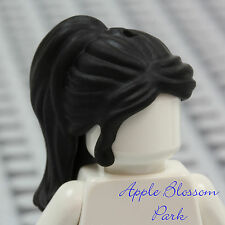 NEW Lego Girl Minifig Long BLACK HAIR Friends Female Princess Ponytail Head Gear