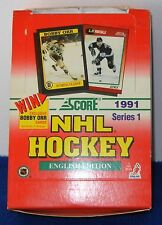 SCORE 1991 SERIES 1 NHL HOCKEY CARDS ~36 WAX PACKS 15 CARDS PER PACK FACTORY BOX