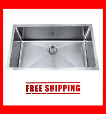 "New 30"" Small Radius Stainless Steel Under mounted Single Kitchen Sink - KSU30S"