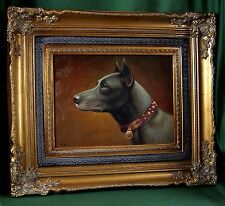 FineDecoArt SUPER!!! TOP GEMÄLDE PORTRAIT HUND DOBERMANN TIER BILD CARL REICHERT