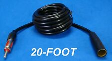 """240"""" 20 FOOT AUTO ANTENNA EXTENSION CORD ANT MALE FEMALE CAR AM FM ADAPTER CABLE"""