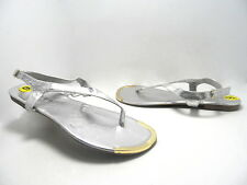 Madden Girl Women's Sambo Sandals Silver Size 9 Used w/ Defect!!!!!