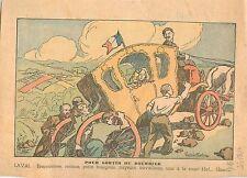 Caricature Politique Pierre Laval Carrosse Etat Paysans Travailleur Rentier 1935