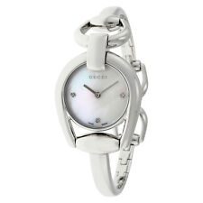 Gucci Horsebit Collection Mother of Pearl Dial Stainless Steel Ladies Watch