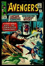 Marvel Comics The AVENGERS #18 Captain America Hawkeye Scarlet Witch VFN-