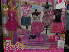 2013 BARBIE LIFE IN THE DREAMHOUSE BARBIE & 4 FASHIONS & SHOES GIFTSET #CDK55