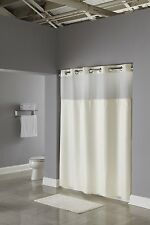 Hookless Fabric Shower Curtain with Built in Liner  Beige , New, Free Shipping