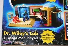 "6"" OFFICIAL MEGAMAN DR WILEYS LAB PLAYSET RARE EXTRA FIGURES BOYS BIRTHDAY GIFT"
