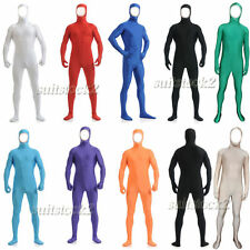 Kid Adult Open face out Lycra Spandex Zentai costume Bodysuit Catsuit Unitard