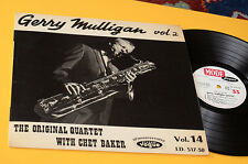 GERRY MULLIGAN CHET BAKER QUARTET LP ORIG FRANCE '60 EX LAMINATED COVER TOP JAZZ