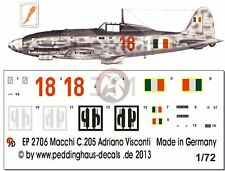 Peddinghaus 1/72 Macchi C.205V Veltro Serie III Markings Adriano Visconti 2706