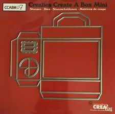 NEW Crealies Create a Box MINI No.7 - SUITCASE Cutting Dies CCABM07 115x109mm