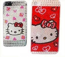 Cover CUSTODIA per IPHONE 5 5S HELLO KITTY DIAMANTI BRILLANTINI DIAMOND GLITTER