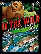 Dover IN THE WILD Stained Glass Coloring Book Jeremy Elder Fine 2013