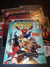 SIGNED FRANK CHO MIGHTY AVENGERS #1 2 3 4 5 SET/LOT ULTRON INITIATIVE AGE MARVEL