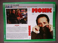 DVD-Cover Monk (2004) Tony Shalhoub (Serie) Video-Einleger (Clipping)