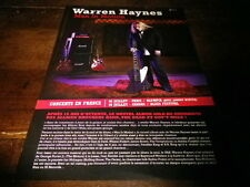 WARREN HAYNES - ALLMAN BROS - Plan média / Press kit !!! MAN IN MOTION !!!