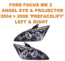 Ford Focus Mk 2 Angel Eyes & Projector Headlights 04   08 ONLY