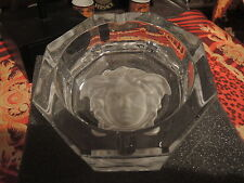 VERSACE  ASHTRAY MEDUSA CRYSTAL Rosenthal CHRISTMAS GIFT New Box  SALE RET. 300$