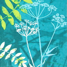 4x Single Table Party Paper Napkins for Decoupage Decopatch Turquoise Hemlock