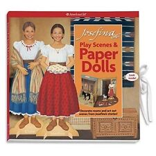 American Girl Josefina PLAY SCENES & PAPER DOLLS clothes furniture accessories