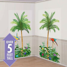 Palm Tree Scene Setter ADD-ON Wall Decoration Banner Party Favor Supplies ~ 2ct
